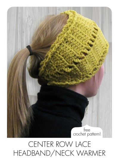 Center Row Lace Headband Rewind Knits And Crochet